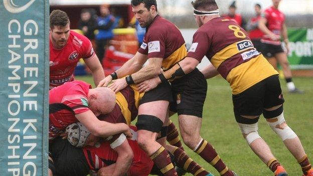 Ampthill have not played since they lost 30-13 at home to Cornish Pirates on 14 March