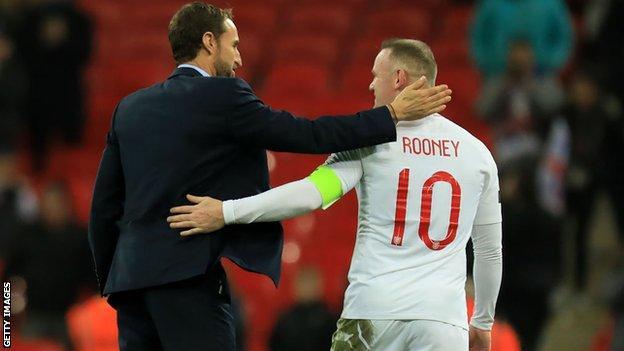Wayne Rooney and Gareth Southgate