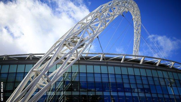 Wembley Stadium's famous arch