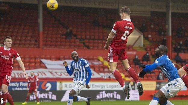 Callum Hendry scored Aberdeen's first goal in seven matches