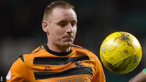 Alloa Athletic striker Andy Graham