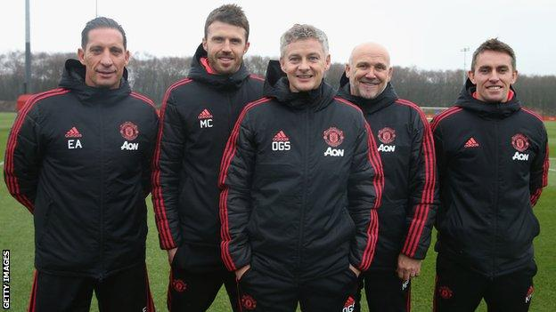 Ole Gunnar Solskjaer and his coaching staff