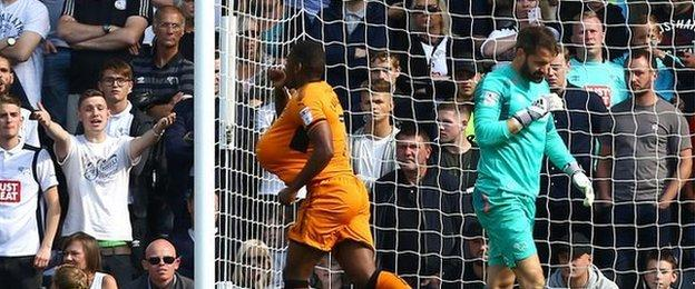Ivan Cavaleiro was sent off on Wolves' last trip to Pride Park in April