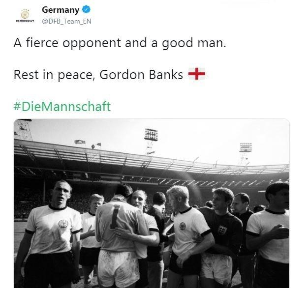 The German Football Federation paid their tributes on Twitter