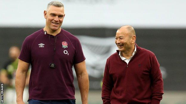 Jason Ryles (left) with Eddie Jones