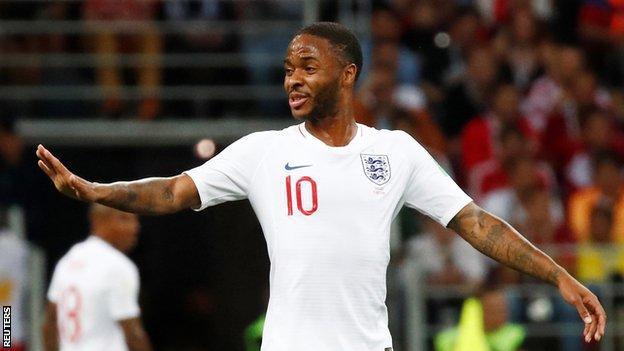 Raheem Sterling in an England shirt