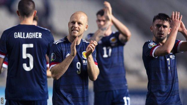 Scotland's Steven Naismith after the 2-1 win over Cyprus in Nicosia