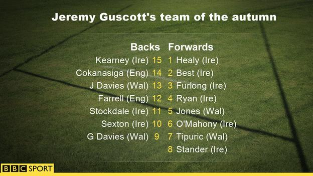 Jeremy Guscott's team of the autumn