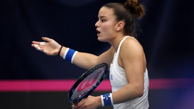 Fed Cup 2019: Line judges criticised by Greek players in GB win thumbnail
