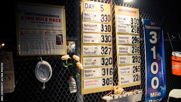 Night falls at race HQ