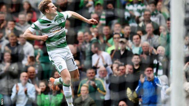 Stuart Armstrong netted twice in Celtic's 4-2 win over Inverness CT