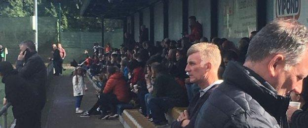 A crowd of around 200 were at the K Park in East Kilbride for Celtic v Rangers