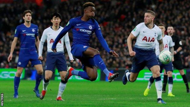 Hudson-Odoi made a second successive start in the Carabao Cup defeat by Tottenham on Tuesday