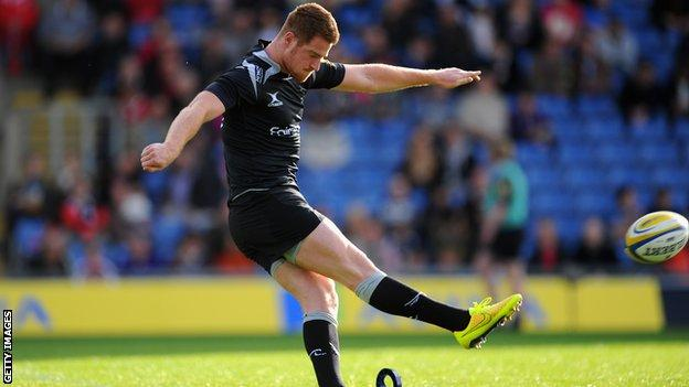 Rory Clegg playing for Newcastle Falcons
