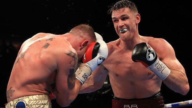 Callum Smith (right) has 22 wins from 22 fights