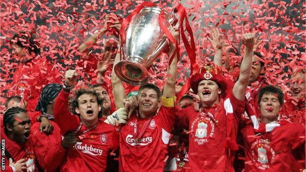 Liverpool celebrating in 2005