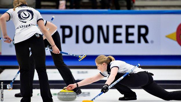 Scotland in action at the World Championships in Denmark