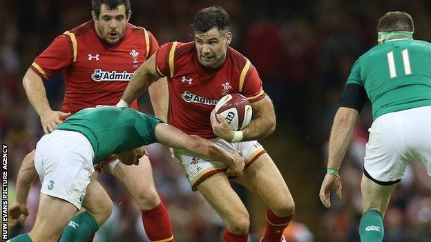Mike Phillips in action for Wales against Ireland