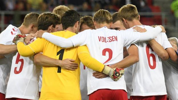 Denmark field a student and internet star during 3-0 defeat by Slovakia thumbnail