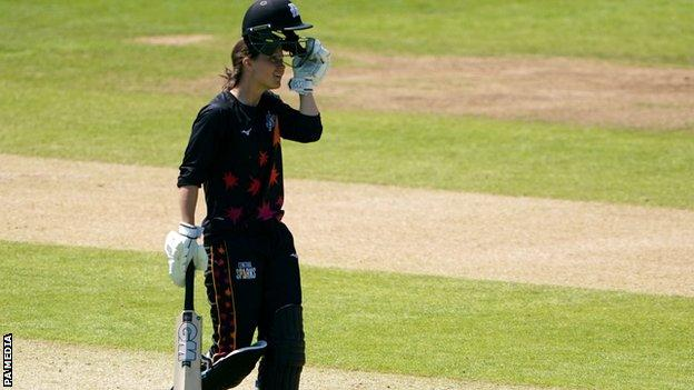 Amy Jones reaches her century for Central Sparks against Western Storm