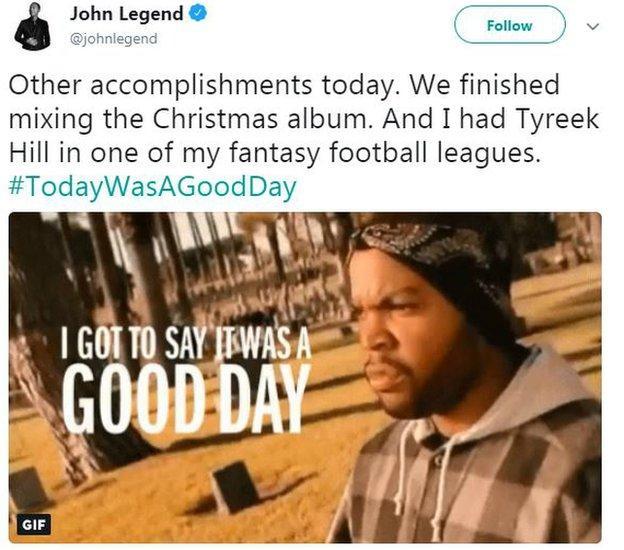 John Legend tweet