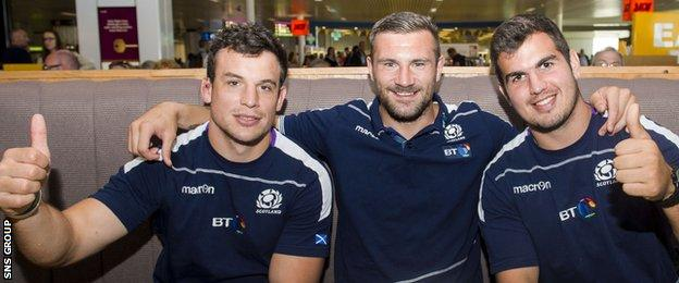 John Hardie, Rory Hughes and Stuart McInally are looking forward to Scotland debuts