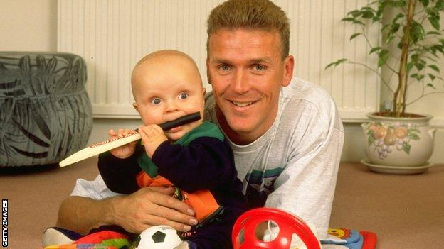 Alec Stewart and son Andrew