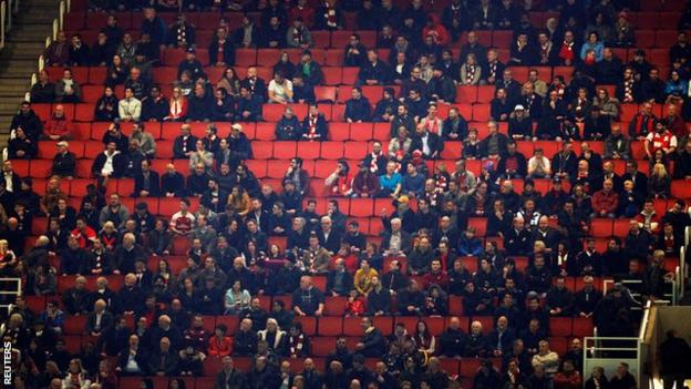 Empty seats at the Emirates