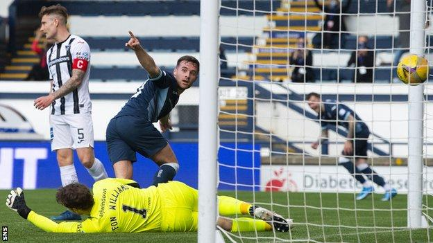 Lewis Vaughan scores for Raith Rovers