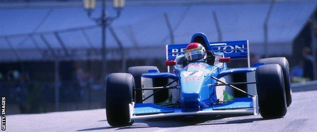 Justin Wilson at the 1999 F3000 race at Monaco