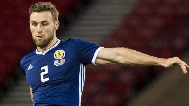 Stephen O'Donnell out of Scotland double-header with Albania and Israel - BBC Sport
