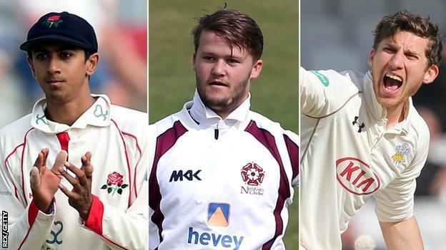 Haseeb Hameed, Ben Duckett and Zafar Ansari