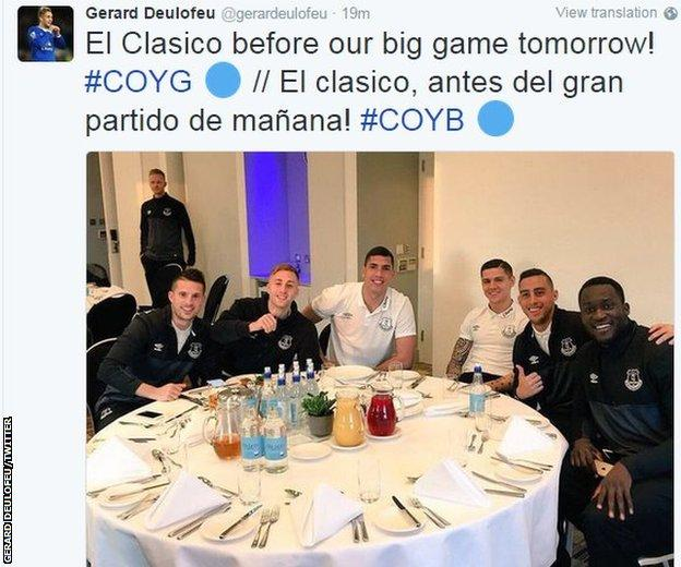 Gerard Deulofeu and his team-mates have their television viewing planned for Saturday night