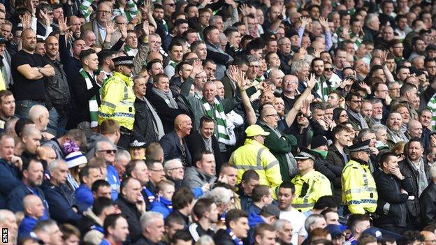 Rangers and Celtic fans at their recent Scottish Cup semi-final