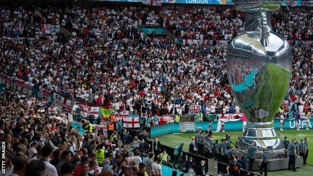 Wembley crowd during the Euro 2020 final