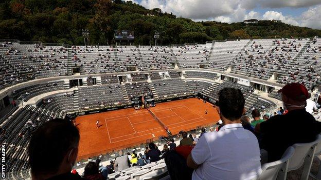Fans at the Italian Open