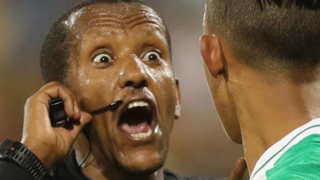 Ethiopian referee Bamlak Weyesa