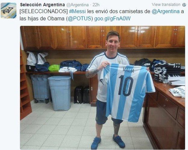 Lionel Messi on Twitter