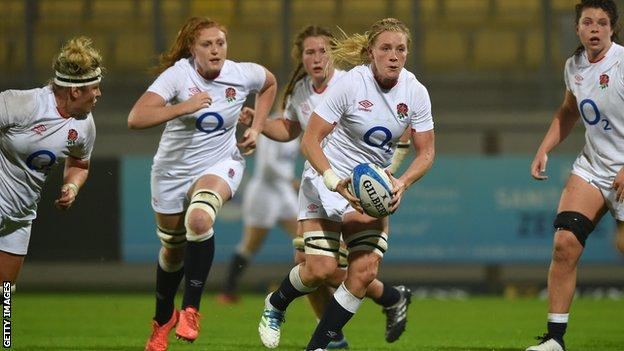 Several England players during a match