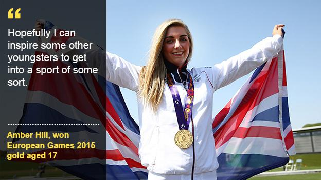 Aspire to be like teenage Commonwealth Games champion Amber Hill.