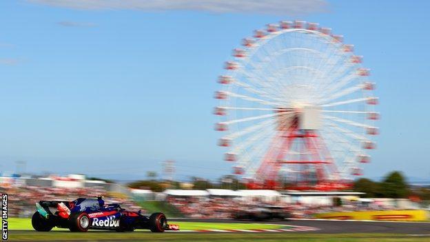 The Suzuka circuit in Japan