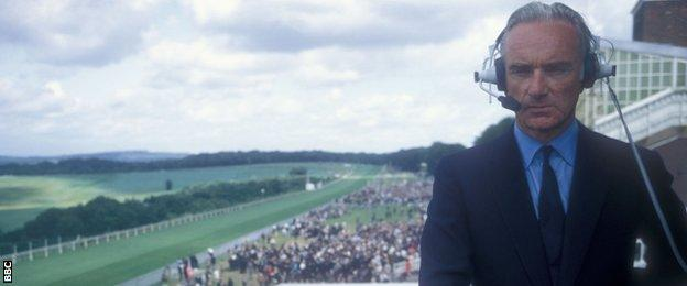 Sir Peter at Goodwood in 1971, already with a decade's BBC experience under his belt