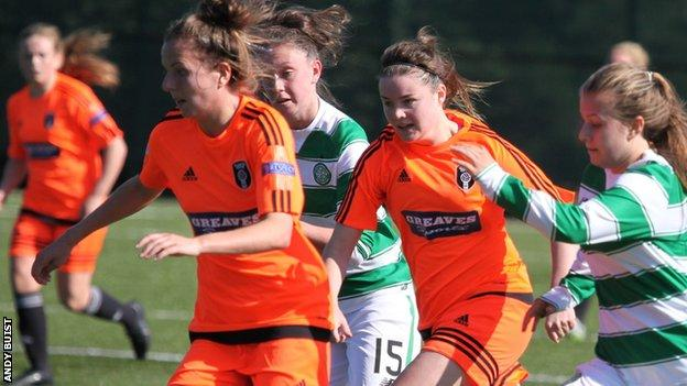 Celtic were heavily beaten by league leaders Glasgow City