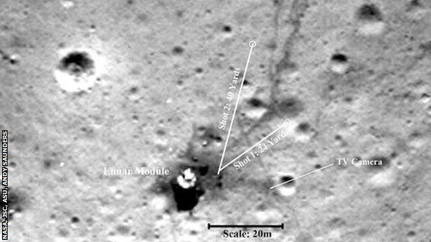 A photo of the 1971 lunar landing site taken in 2009