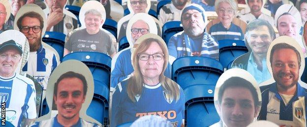 Colchester cardboard cut-out fans