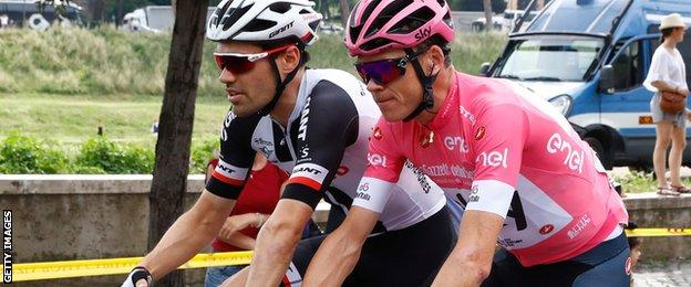 Chris Froome and Tom Dumoulin