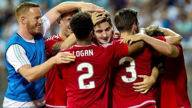 Aberdeen were 3-0 winners against Rijeka