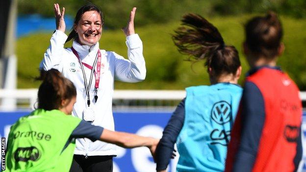 France's head coach Corinne Diacre