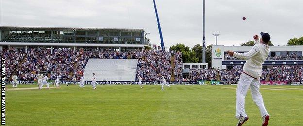 England's Joe Root takes a catch against Australia