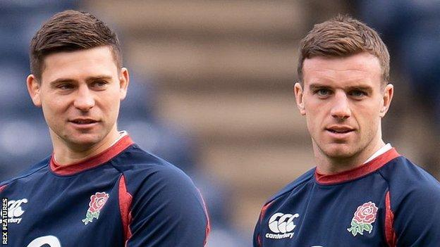 Ben Youngs and George Ford
